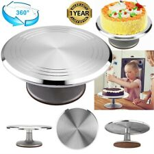30CM ROTATING CAKE ICING DECORATING REVOLVING KITCHEN DISPLAY STAND TURNTABLE