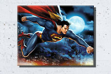 Superman Man of Steel framed Canvas Wall Art