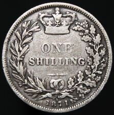 More details for 1871 | victoria one shilling 'die 9' | silver | coins | km coins