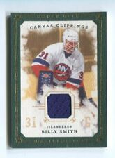 2008-09 UD Masterpieces Canvas Clippings jersey Green /85 Billy Smith Hockey