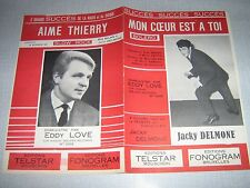 PARTITION MUSICALE BELGE JACKY DELMONE EDDY LOVE