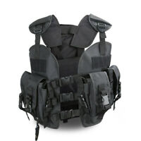 Military Tactical Tool Combat Safety Molle Vest 600D Nylon