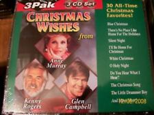 CHRISTMAS WISHES 3 CD SET HOLIDAY MUSIC GLEN CAMPBELL KENNY RODGERS ANNE MURRAY
