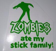 Palo Verde Zombies se comió mi familia, Laptop/Coche Decal/Sticker, ventana de coche, parachoques
