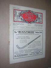 HOCKEY FIELD & LACROSSE INCLUDING NET-BALL. VINTAGE MAGAZINE. OCT 16th 1924