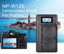 NP-W126 LCD USB Dual Charger for Fujifilm X-Pro1 XPro1 X-T1 XT1 HS30EXR HS33EXR
