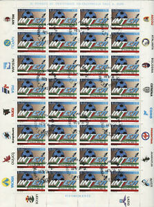 Italia Repubblica 1989 foglio Inter usato