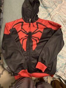 Spider-Man Hoodie- Large, Marvel, Cosplay, Spider-verse MCU Miles NYCC