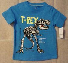 63462fb249a T-Rex Dinosaurio Niños Carters T-shirt Azul Talla 2T Nuevo con etiquetas  Tiranosaurio Rex
