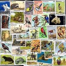 Botswana Colecciones de 10 a 500 Sellos Diferentes
