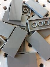 Lego Dark Gray 2x4 Flat Tiles Smooth Finishing MODULAR BUILDINGS New Lot Of 12