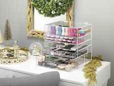 Countertop Makeup Organizer With Drawers Best Cosmetic Jewelry Display Tray