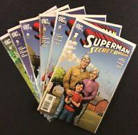 SUPERMAN SECRET ORIGIN #1 - 6 Comic Books COMPLETE SET Geoff Johns 2009 DC VF