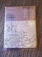 New IKEA Hedda Blad Curtain Pair White Floral Patterned Semi Sheer Panels 57x98