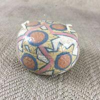 Vintage Studio Pottery Trinket Box Signed British Art Pottery Liberty of London