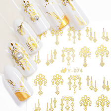 30 Sheets 3D Nail Art Transfer Stickers Gold Silver Manicure Decoration DIY Tips