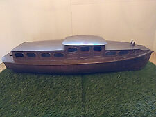 HUGE Antique Brass Handmade Ship Folkart Maritime Nautical boat lake ocean house