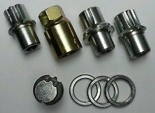 LOCKING WHEELNUTS FOR STANDARD RANGE ROVER ALLOY WHEELS 2002-2005 M14x1.5 20mm