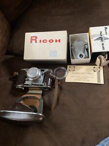 Ricoh 500 35mm Rangefinder Camera with 4.5cm F2.8 Riken Lens, Flash Unit BC-605