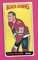 1964-65 TOPPS TALL # 41 HAWKS WAYNE HILLMAN VG+  CARD (INV# J0068)