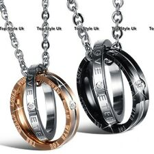Couple Promise Rings Necklaces for Husband & Wife Boyfriend & Girlfriend Gifts