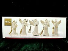 Mikasa Holiday Elegance Christmas Angel 5 Piece Porcelain Ornament Set Nib