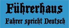 1 Führerhaus Fahrer spricht Deutsch Aufkleber 195 X  75 mm  BC SCHWARZ