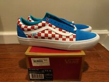 Brand new Vans Old Skool Pro Golf Wang Syndicate Blue & Red Checkers Size 11.5