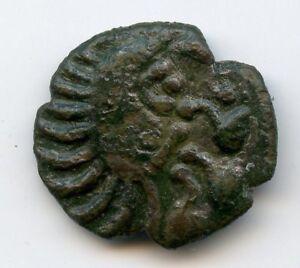 Bellovaques Bronze au coq à tête humaine LT.8584