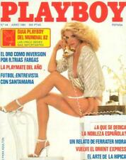 PLAYBOY 44 Spain / SHANNON LEE TWEED EVA LIBERTY LINDA RHYS VAUGHN Poster - EX