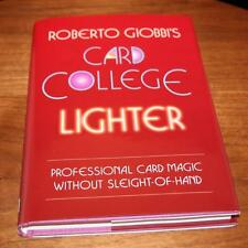 Card College Lighter Roberto Giobbi Pro Self Working Card Tricks Magic
