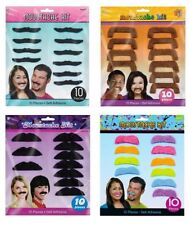 1980s Moustache Costume Wigs & Facial Hair
