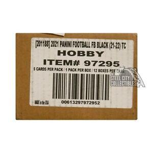 2021 Panini Black Football Hobby 12-Box Case