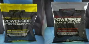 LOT OF 2 Powerade Powder Drink Mix, 2 lBS BAG White Cherry & Lemon Lime 08/2020