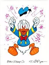 Disney Don Rosa Art Original Signed Scrooges Nephew Donald Duck Exploding Anger