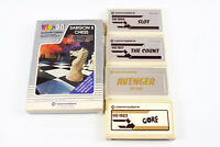 Commodore VIC-20: Lot Of 5 Games - Gorf, Sargon Chess, Avenger, Slot & More