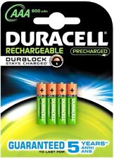 4 x Duracell Akku AAA Micro Rechargeable DURALOCK Stays Charged 800 mAh Blister