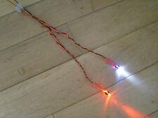 Model RC Plane Light Kit Ultra Bright LED STATIC Red & White Beacon Lights