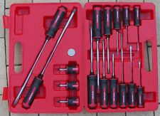 NEW MASTER SCREWDRIVER SET S2 STEEL S78016 16Pce TANG THRU SHAFT T&E TOOLS