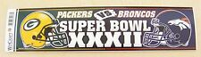 Green Bay Packers vs Denver Broncos bumper sticker bs Super Bowl XXXII 32