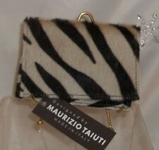 Maurizio Taiuti ~ CALF FUR Zebra Print Passport Italy ~ Wallet