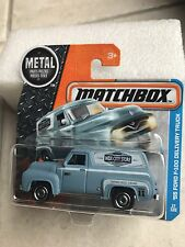 MATCHBOX 2016  '55 FORD F-100 DELIVERY TRUCK GRIS 1/64