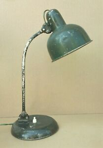 Ancienne lampe de bureau ARTICULEE industrielle atelier usine ALU VERTE vintage
