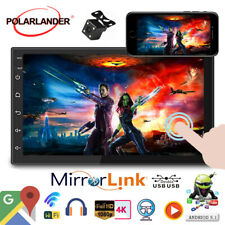 7''2 Din GPS Android Car Radio Airplay+Camera FM iOS Mirror Link BT Touch WiFi
