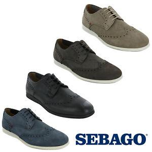 Sebago Reid Wing Tip Mens Smart Trainers Leather Low Cut Casual Shoes UK8-10.5