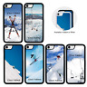 Skiing Personalised Name Case for Apple iPhone 5 5s SE 6 6s 7 8 PLUS X XR XS Max