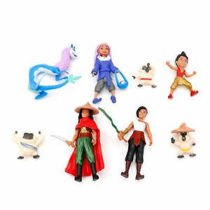 8Pcs Moive Raya and The Last Dragon Action Figure Toys Princess Raya Sisu Dolls