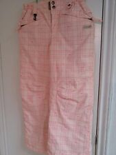 686 BYMICHAELAKIRAWEST girl's pink plaid snow pants Size Small