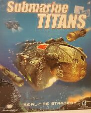 NOS PC CD Game Submarine Titans Strategy First Windows 95/98/2000 Factory Sealed