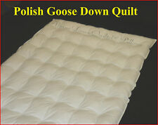 KING SIZE SUMMER WEIGHT QUILT- 95% POLISH GOOSE DOWN - 2 BLANKET AUSTRALIAN MADE